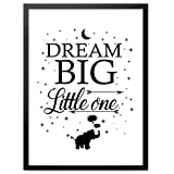 "Booga Baby Poster Kinderzimmer mit Spruch ""Dream Big Little One"""