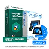 Kaspersky Total-Security 5 Geräte 1 Jahr Vollversion + Upgrade inkl. Driverrepair & Bootup für Windows. Originalverpackte Kaspersky Smartcard für Windows, Mac, Android. Ios