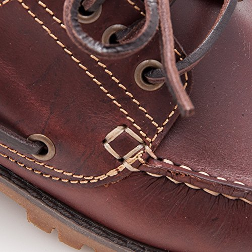 Zerimar Scarpe uomo eleganti in pelle nautico con suola in gomma flessibile SALDI- ORA O MAI 100% pelle di alta qualità La marcatura di fashion design Rivestimento interno Marrone