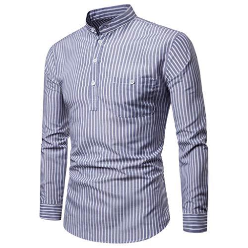 Yazidan Farben dharke Streifen leicht bequem langärmlig traditionell Großvater Shirt, Hippy Boho -