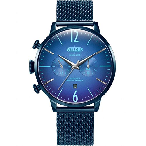 Welder Breezy Homme 47mm Bracelet Acier Inoxydable Bleu Quartz Montre WWRC1004