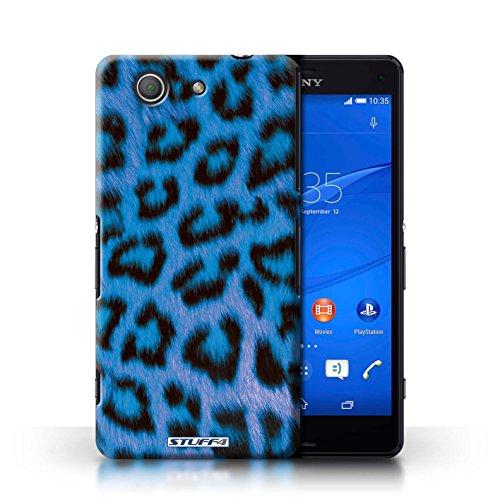 Kobalt® Imprimé Etui / Coque pour Sony Xperia Z3 Compact / Bleu conception / Série Peau de Léopard Animal Bleu