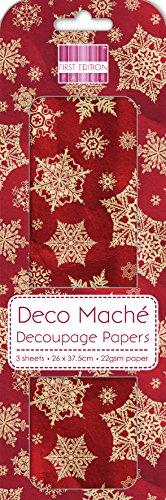natale-fiocchi-di-neve-rossi-deco-mache-x-3-tessuto-patch-di-carta-prima-edizione-craft