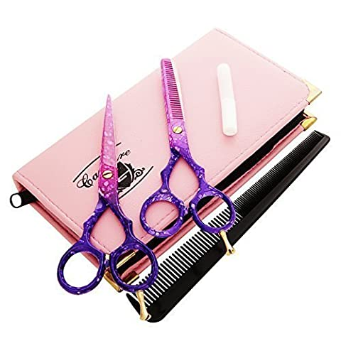 Hairdressing Barber Salon Scissors, Thinning Scissors set 5.5