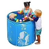 HEROTIGH Aufblasbare Pools Planschbecken Kinder Familie Halterung Klappbar Kind Baby Barrel Rund...