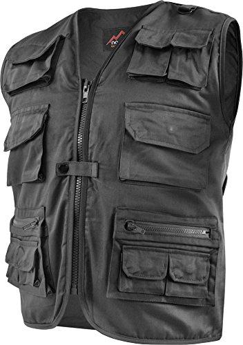 normani Outdoor Weste Safari mit vielen praktischen Taschen Farbe Schwarz Größe XL