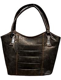 Spice Art Leatherite Handbag (Black)