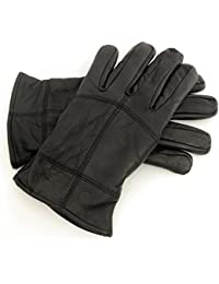 Rjm Men's Soft Warm Leather Gloves with Thinsulate Lining GL318