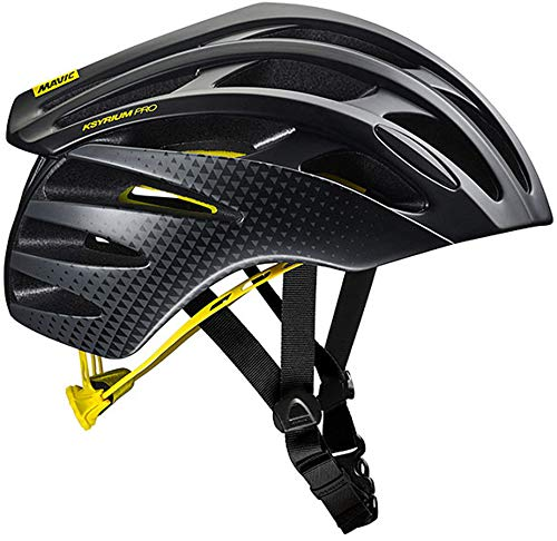 Mavic Ksyrium Pro MIPS Rennrad Fahrrad Helm schwarz/gelb 2018: Größe: S (51-56cm)