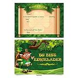 """Einladungskarten (8 Stück) zum Ausfüllen für Geburtstag - """"Kleeblatt"""
