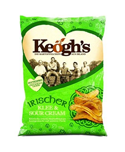 Keogh's Shamrock and Sour Cream Chips, 6er Pack (6 x 125 g) Shamrock Creme
