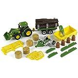Klein - 3907 - Tracteur à Monter John Deere et Son Matériel Agricole