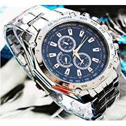 amazing-trading Hand Casual Sport Wrist Watch Casual Stainless Steel Quartz Analog for men