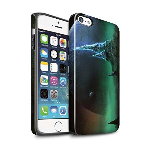 Offiziell Chris Cold Hülle / Glanz Harten Stoßfest Case für Apple iPhone SE / Pack 12pcs Muster / Fremden Welt Kosmos Kollektion Saphir Spitzen