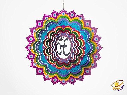 Spin Art Premium Mandala Om Multi Farbe Wind Spinner (12Zoll)