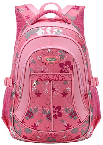 Coofit Zaini per Ragazze Scuola Borse Casual Giorno Zaini Borsa Scuola Borse da Viaggio (pink)