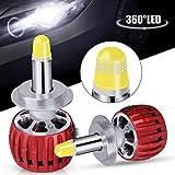 Oasser 360° LED H7 Faros Delanteros Bombillas Cohces 60W 12DC 6000LM