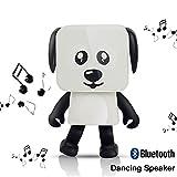 HanDingSM Bluetooth Lautsprecher,Drahtloser Bluetooth Tanz-Roboter-Hundelautsprecher,Stereo Bass Sound Bluetooth Musik Lautsprecher (Weiß)