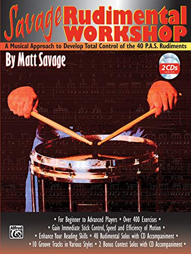 Savage Rudimental Workshop: A Musical Approach to Develop Total Control of the 40 P.A.S. Rudiments, Book & 2 CDs: Bass Control-taste 2
