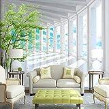 3D stereoskopischen Raum blauer Himmel Wald Wandbild Wallpaper benutzerdefinierte moderne Wohnzimmer TV Hintergrund Wand 3D-Effekt Fototapete 250cm(W) x175cm(H)