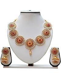 Ethnic Maroon Colour Nayantara Necklace Set