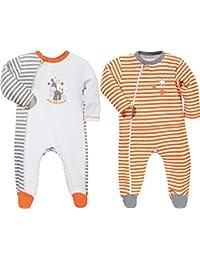 Baby Butt Schlafanzug 2er-Pack mit Druckmotiv Esel Frottee