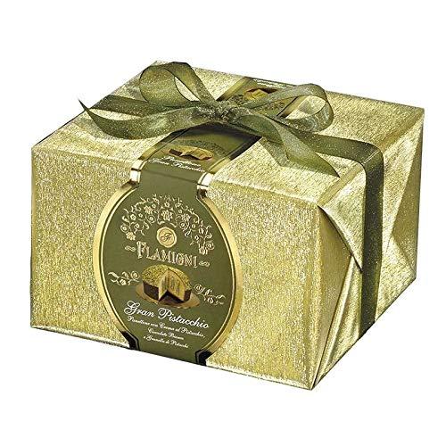 Panettone gran pistacchio 950 gr con crema di pistacchio e copertura di cioccolato bianco