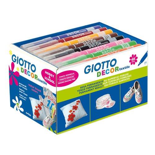 Textilmalstifte Giotto Decor textile, 48 Stk. -Stoffmalstifte Stoffmaler