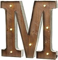 """Lettre """"M"""" Lumineuse 41cm Design Industriel par Heaven Sends"""