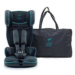 Urban Kanga Travel Car Seat Portable and Foldable Group 1 for 9-18 Kg Uptown (TV107) (Castor Grey/Teal)   3