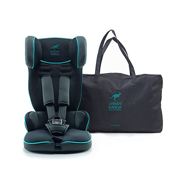 Urban Kanga Travel Car Seat Portable and Foldable Group 1 for 9-18 Kg Uptown (TV107) (Castor Grey/Teal) Urban Kanga FOLDABLE PORTABLE TRAVEL CAR SEAT - Universal Group 1. Suitable for children weighing 9-18 Kg. (20 to 40 LB.) SAFE - Tested and certified to meet ECE R44/04 EUROPEAN SAFETY STANDARD LIGHTWEIGHT - Weighs only 3 KG! Fits in most standard suitcases. Carry bag included! 1