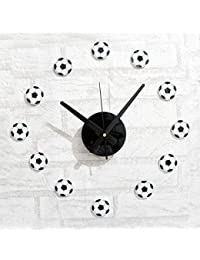 Clock Reloj De Pared DIY Football Decoraciones De Pared Fútbol 3D Etiqueta De La Pared Estilo Deportivo Creatividad Adornos Sala De Estar Lugares Públicos