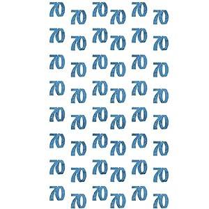 Gifts 4 All Occasions Limited SHATCHI-1121 Shatchi-6 x 70TH - Guirnalda de decoración para cumpleaños, diseño de banderines, color azul