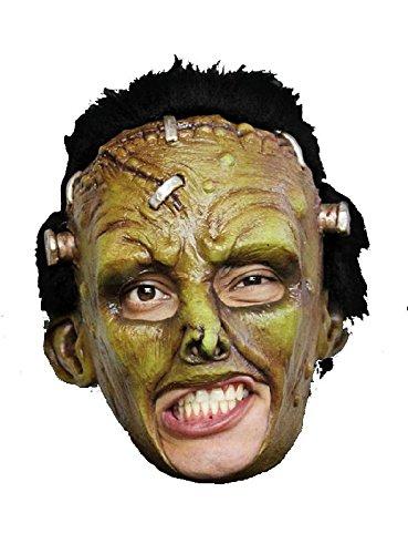 grüner Frankenstein kinnlose Latex Maske zu Monster Kostüm Halloween