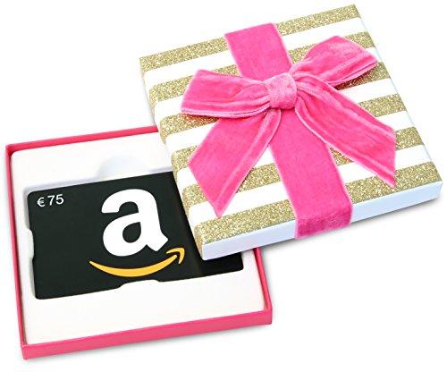 Amazon.de Geschenkgutschein in Geschenkbox - 75 EUR (Valentinstag)