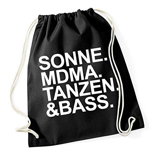 Certified Freak Sonne MDMA Tanzen Bass Gymsack Black