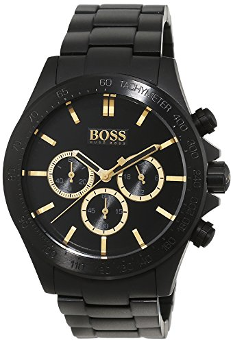 Hugo Boss 1513278banda Black Out-Orologio da polso uomo, acciaio inox, colore: nero