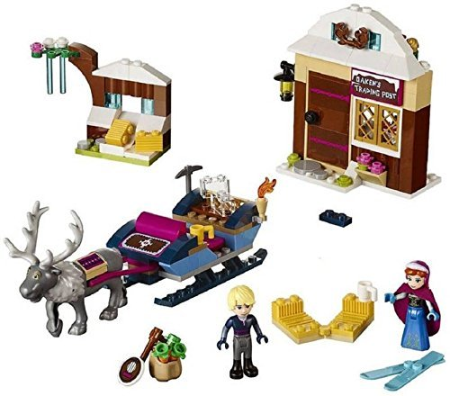 Happy GiftMart Princess Frozen Oakens Trading Post Lego Like Colorful Building Blocks Set 180 Pcs with Kristoff and Anna Figure