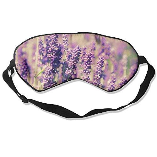 100% Silk Sleep Mask Eye Mask Lavender Flowers Soft Eyeshade Blindfold With Adjustable Strap For Men Women And Kids For Sleeping Travel Work Naps Blocks Light