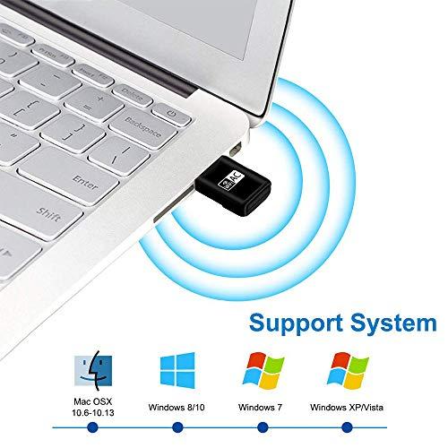 Mac OS X Compatibile con Windows Maxesla 600M Mini WiFi Dongle 802.11ac Dual Band 2.4//5GHz Adattatore di Rete Wireless per PC//Desktop//Tablet//Laptop