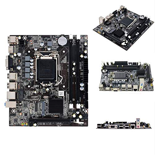 Afittel0 Desktop Motherboard, H55 Doppel USB CPU Interface Motherboard Desktop Computer LGA1156 Dual Kanal für Intel Chipsatz Computer Show, 19.7x17cm