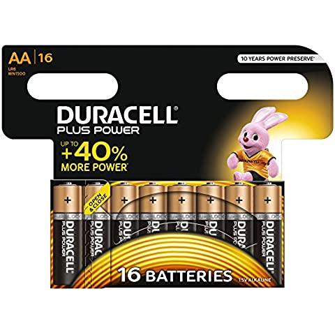 Duracell 81479627 Plus Power Batteria Alcalina di Tipo AA 16,