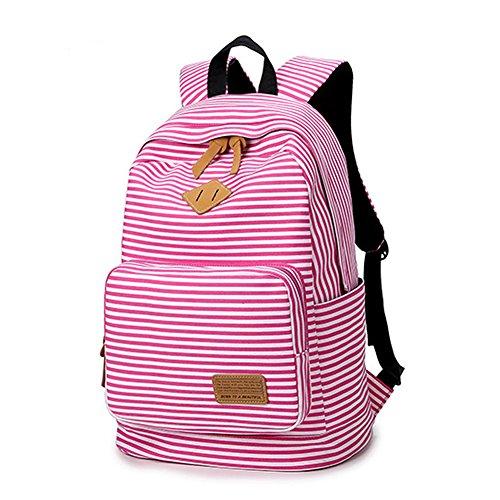 Artone Wasserabweisend Grösse Kapazität Daypacks Schulranzen Rucksack Mit Laptop-Fach Passen 14 Notizbuch Grün Rosa