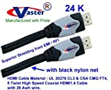 Hdmi1.4 Cable, High Speed Hdmi 1.4v 2160p Digital 26 Awg Cable with Ethernet & 3D Tv, 4.57 M/15 Ft, 3 Pcs/Pack