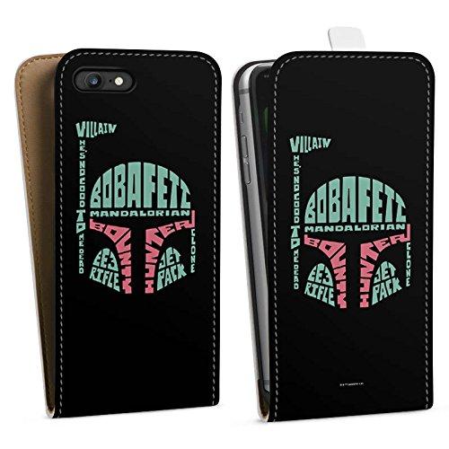 Apple iPhone X Silikon Hülle Case Schutzhülle Star Wars Merchandise Fanartikel Boba Fett Typo Downflip Tasche weiß