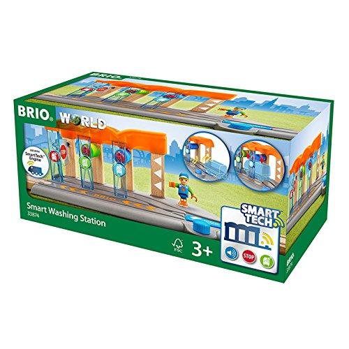 BRIO World 33874 - Smart Tech Waschanlage für Züge (Zug-set Fall)