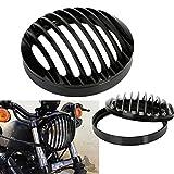 OSAN 5,75' Scheinwerfer Grill Schutz Cover Abdeckung fit für 04-12 Harley Sportster XL 883 1200
