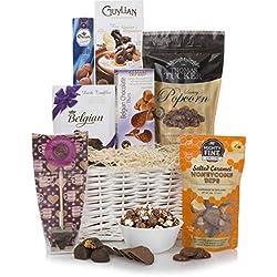 Cesta de Placer de Chocolate - Cestas de chocolate de lujo - El último regalo dulce para todas las ocasiones, incluida la Navidad