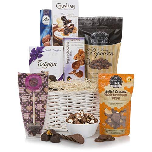 Schokoladen-Genießer-Präsentkorb – Luxus-Schokoladen-Geschenkkörbe – Das ultimative süße Geschenk für alle Gelegenheiten