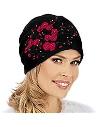 8788dc77b68f09 Willi Elegant Warm Beanie Hat DAGANA - Women Winter Hat Woolmark Wool